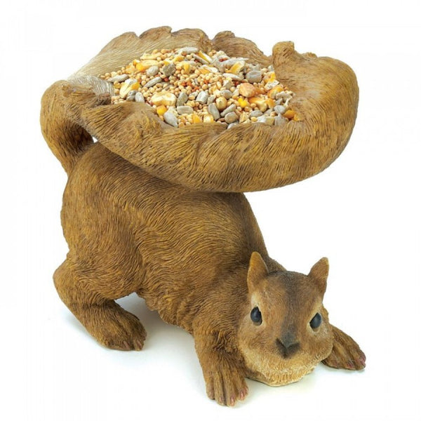 Squirrel Statue Bird Feeder