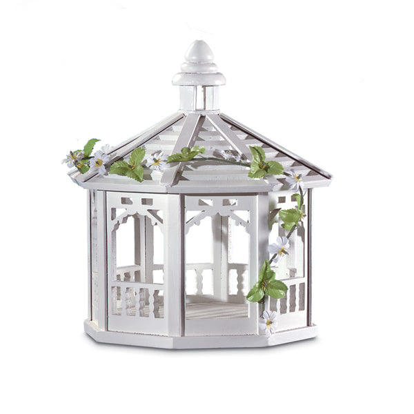 Wooden White Gazebo Bird Feeder