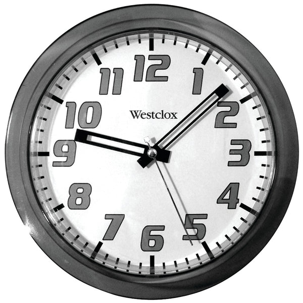 "Westclox 7.75"" Translucent Wall Clock (black)"