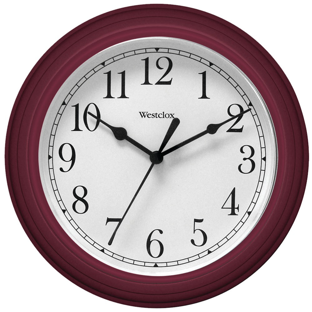 "Westclox 9"" Decorative Wall Clock (red)"
