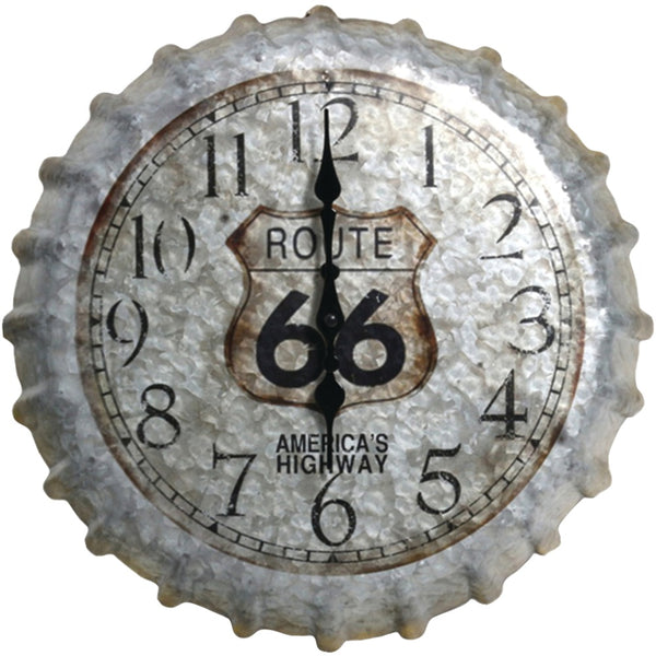 "Springfield 22"" Oversized Heirloom Clock (bottle Cap)"