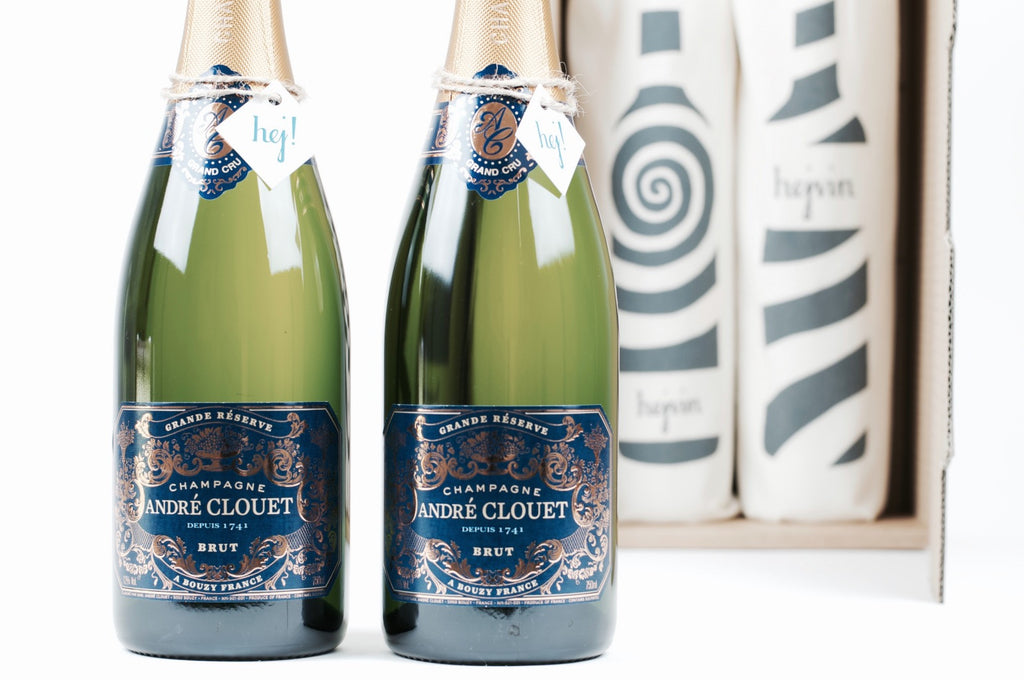 Hejvin Champagner Geschenk | Prickelndes Duo | Champagne André Clouet