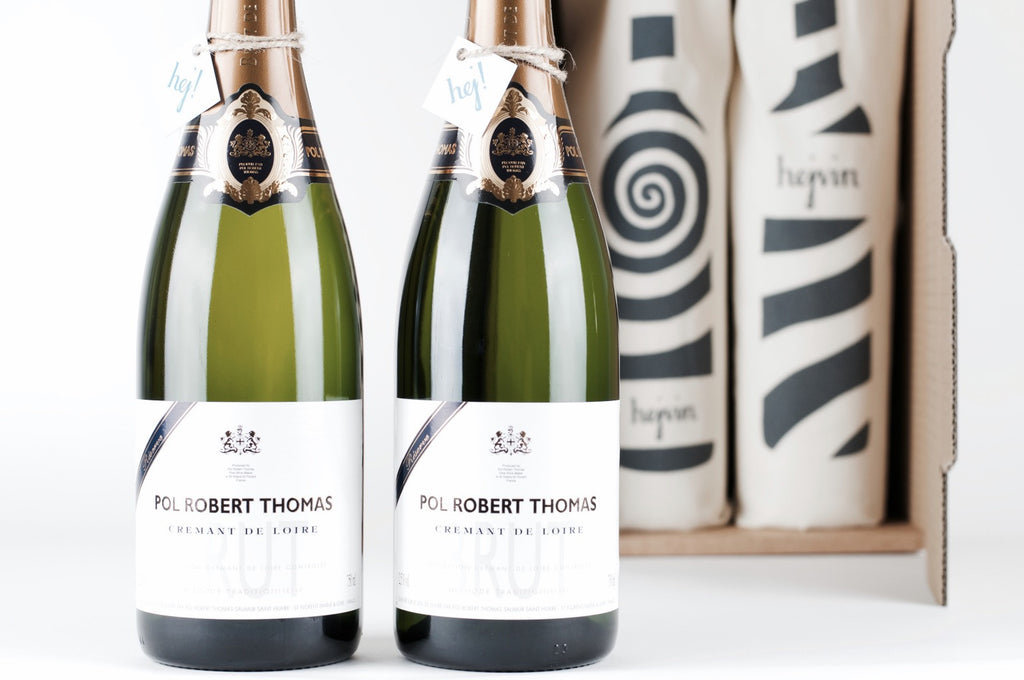 Hejvin Champagner Geschenk | Prickelndes Duo | Crémant Pol Robert Thomas