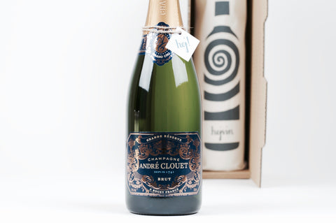 Hejvin Champagner Geschenk | Prickelndes Solo | Champagne André Clouet