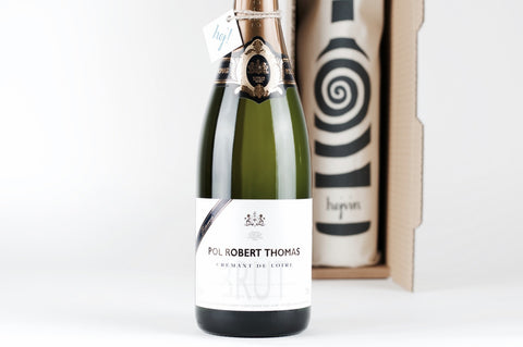 Hejvin Champagner Geschenk | Prickelndes Solo | Crémant Pol Robert Thomas