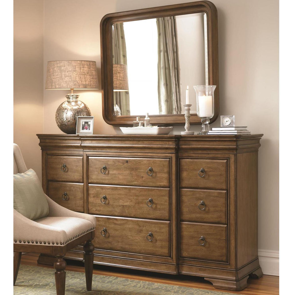 New Lou Drawer Dresser and Mirror by Universal