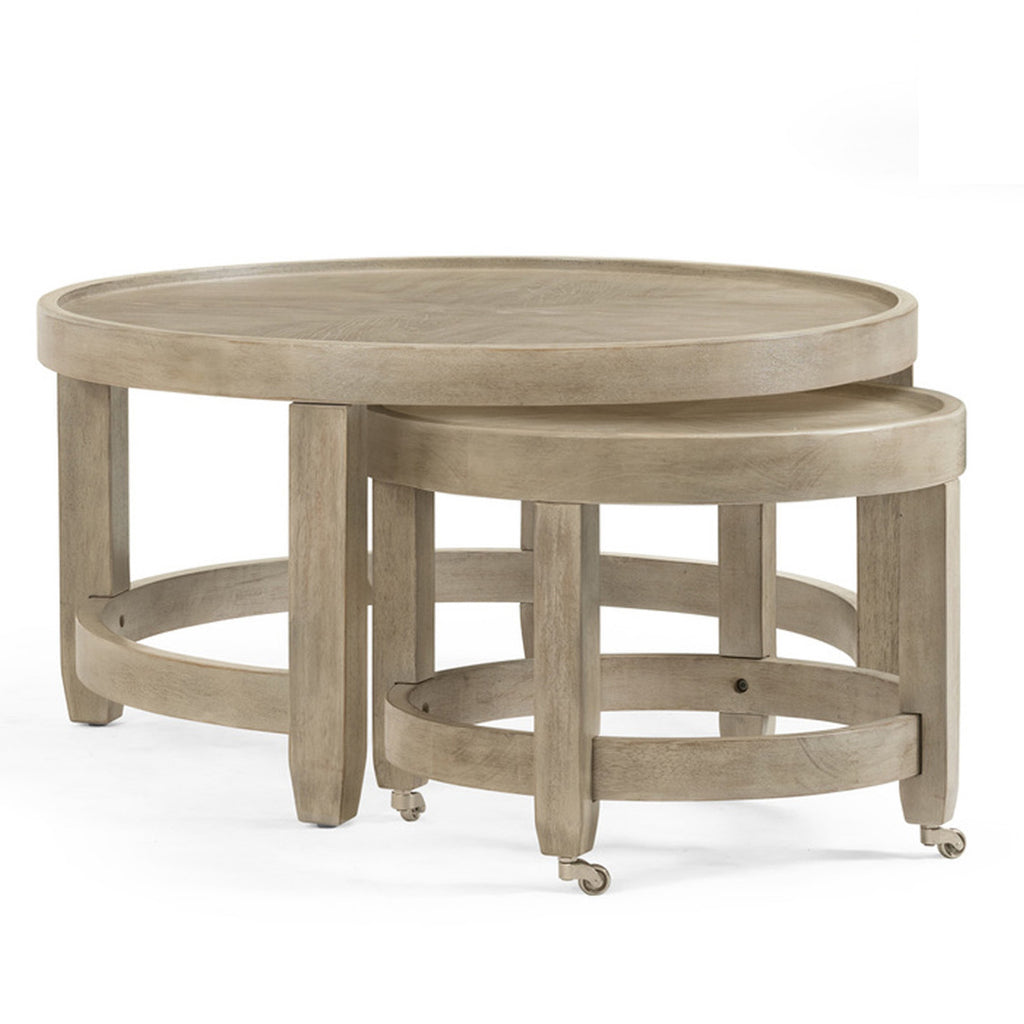 Bellamy Round Nested Cocktail Table by Bassett Mirror Company