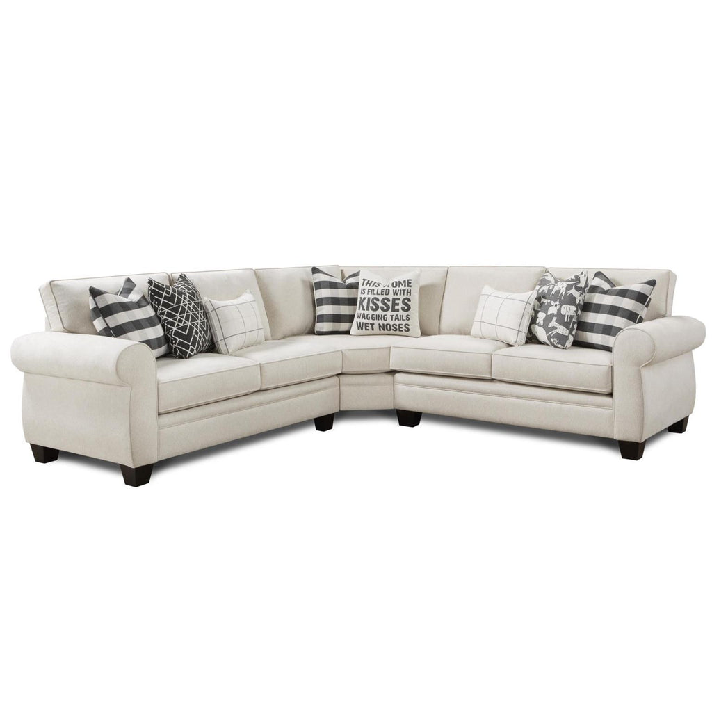 Popstitch Shell 3-Piece Sectional by Fusion Furniture Inc