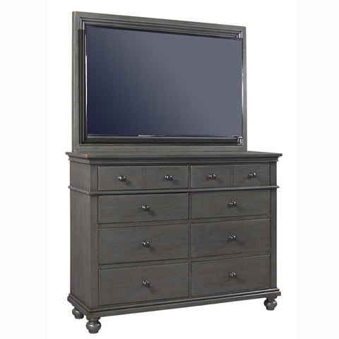 Oxford Peppercorn 2-Piece Chesser with TV Frame by Aspenhome