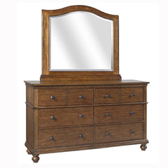 Oxford Whiskey Brown Dresser/Mirror by Aspenhome