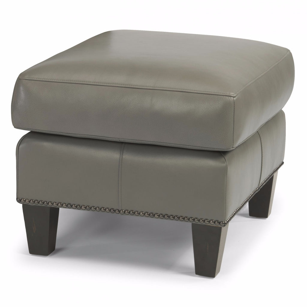 Reuben Leather Ottoman by Flexsteel