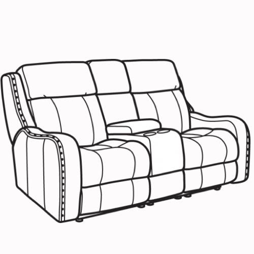 Springfield Power Reclining Loveseat With Headrest By