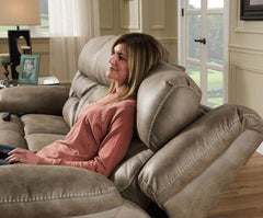 Power Console Love Seat with Power Headrest and Lumbar by HomeStretch
