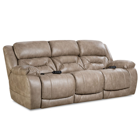 Power Reclining Sofa with Power Headrest by HomeStretch