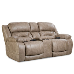 158 Power Love Seat with Console by HomeStretch