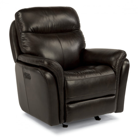 Zoey Leather Power Glider Recliner by Flexsteel