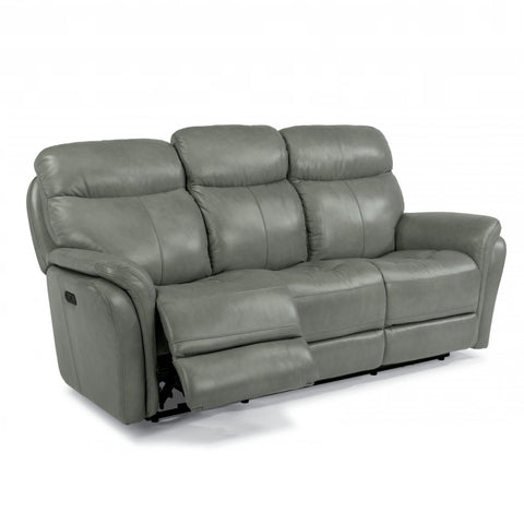 Zoey Leather Power Reclining Sofa by Flexsteel