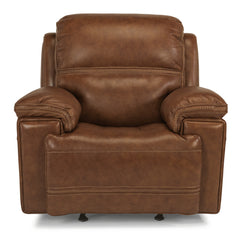 Fenwick Leather Power Gliding Recliner by Flexsteel