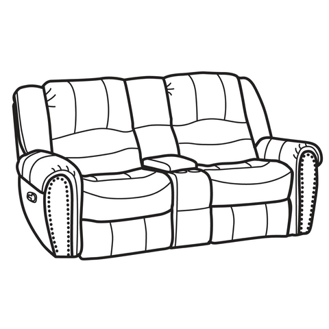 Latitudes Downtown Reclining Loveseat with Console by Flexsteel