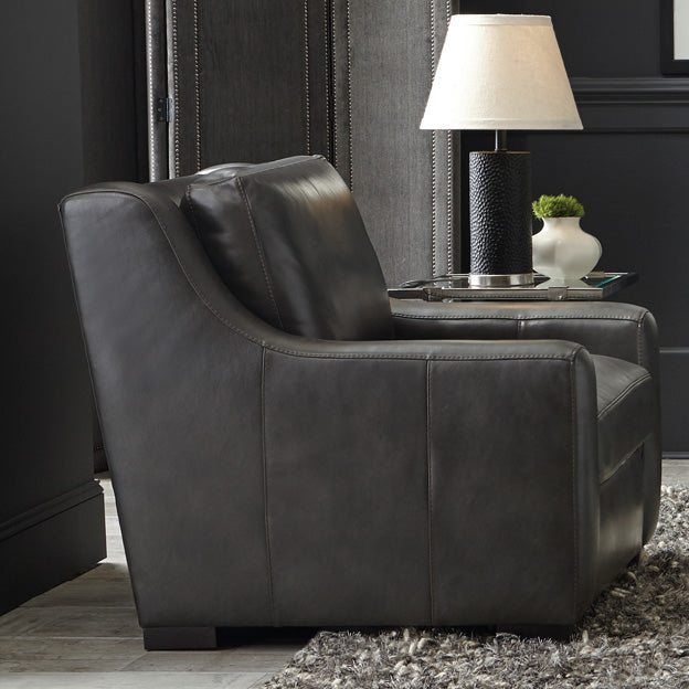 Beau Germain Leather Chair By Bernhardt