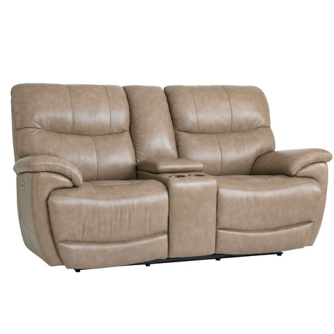 Brookville Power Reclining Loveseat with Console by Bassett