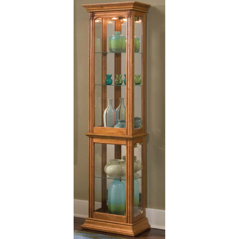 Estate Oak Display Curio by Pulaski