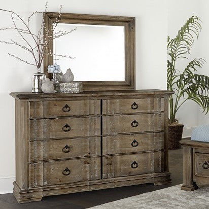 Rustic Hills Dresser and Mirror by Vaughan-Bassett