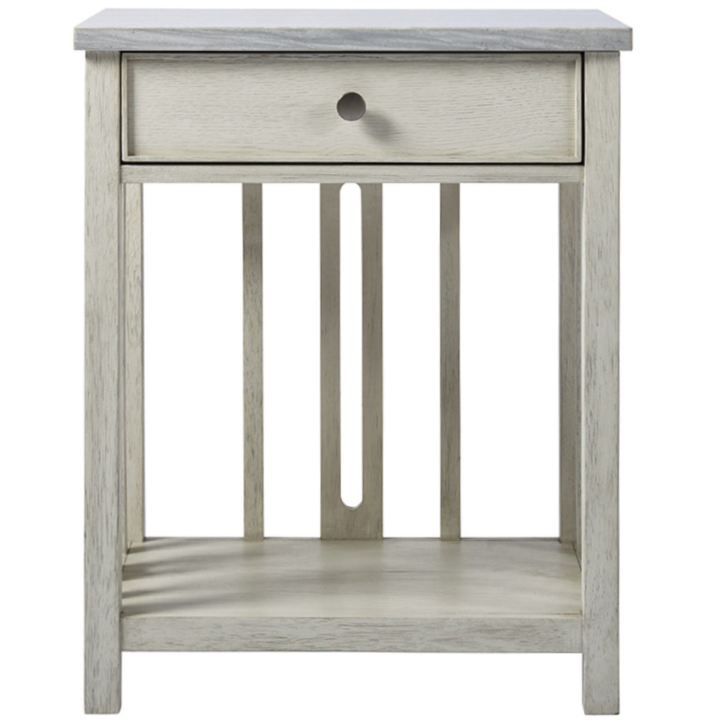 Coastal Living Bedside Table with Stone Top by Universal
