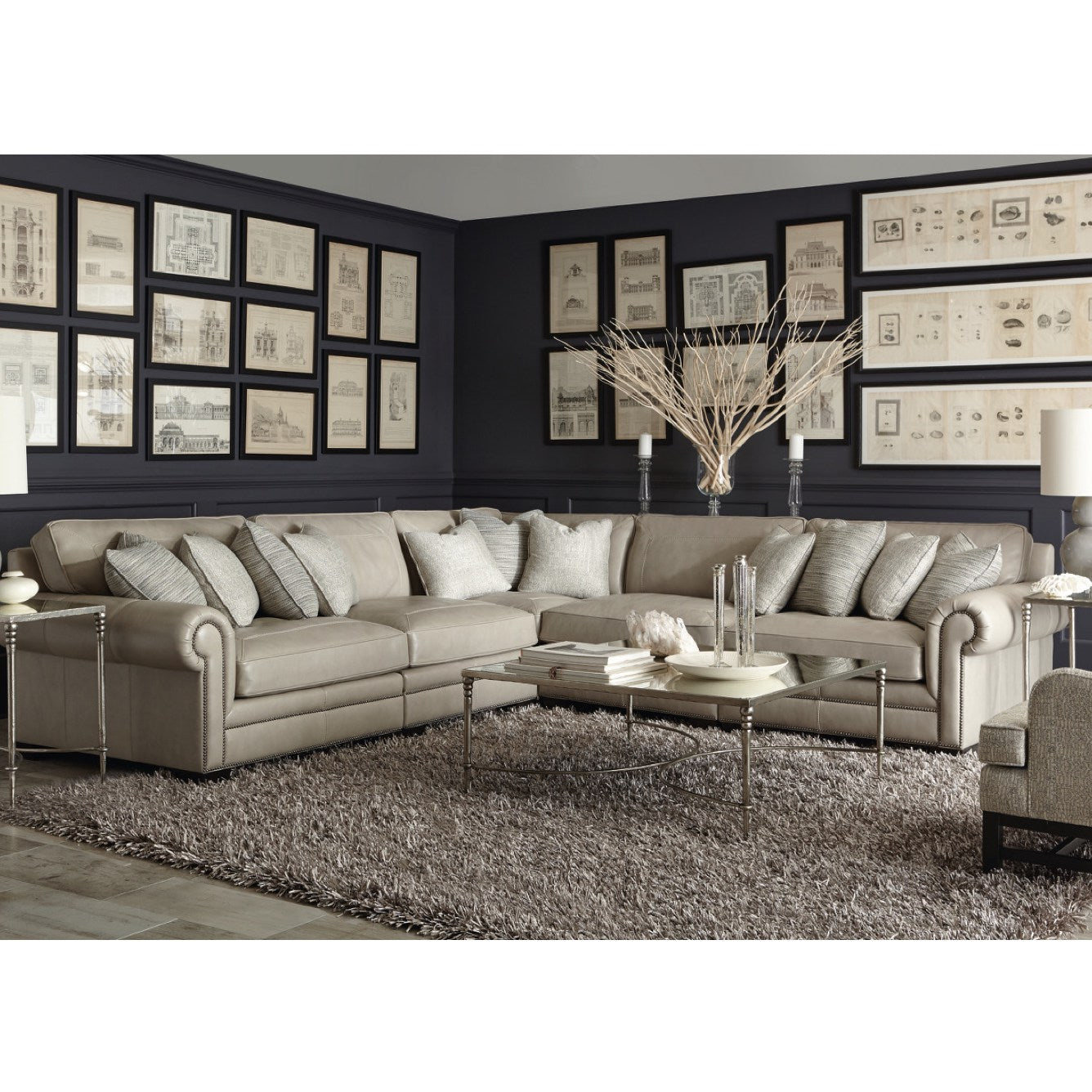Pleasing Grandview Leather Sectional By Bernhardt Barrow Fine Furniture Forskolin Free Trial Chair Design Images Forskolin Free Trialorg