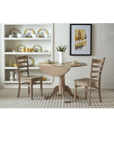 Weathered Grey Dropleaf 3-Piece Dining Set by John Thomas Furniture
