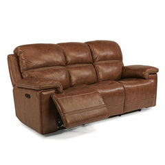 Fenwick Leather Power Reclining Sofa by Flexsteel
