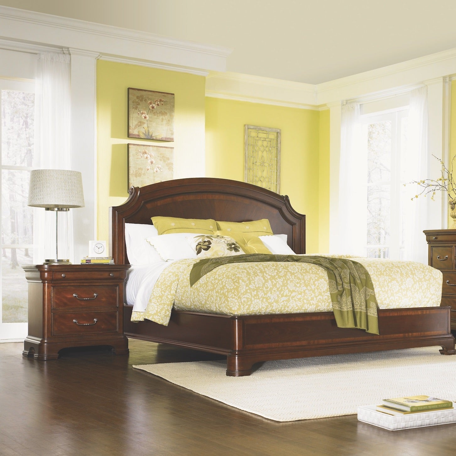 Evolution King Size Scroll Top Platform Bed By Legacy