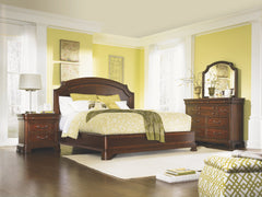 Evolution Queen-Size Scroll Top Platform Bed by Legacy Classic