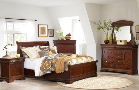 Chateau Twin Sleigh Bed by Largo