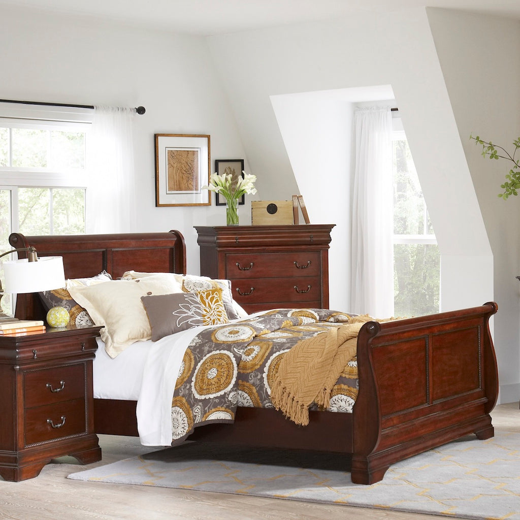 Chateau Full Sleigh Bed by Elements