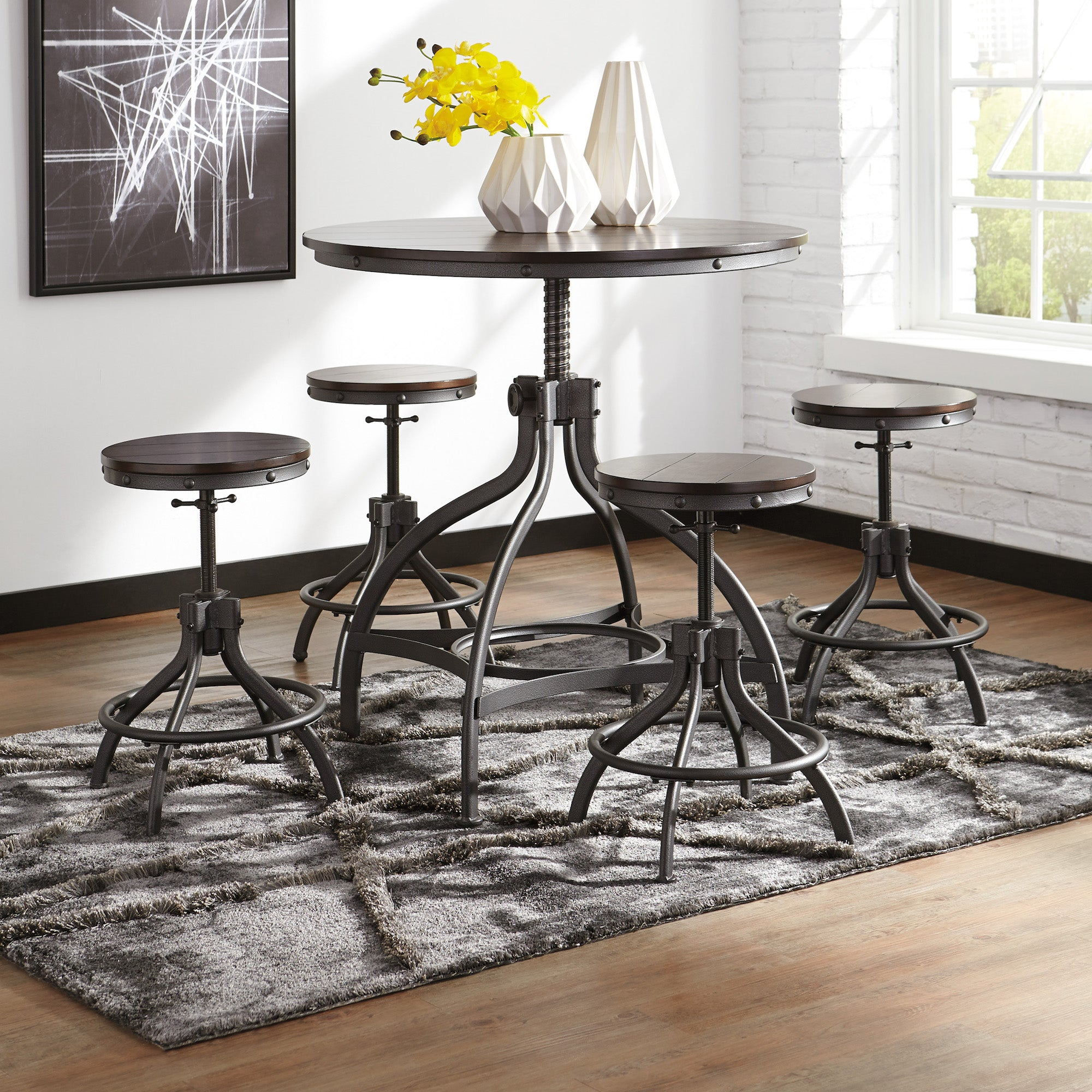 Odium Counter Height Dining Set By Signature Design By