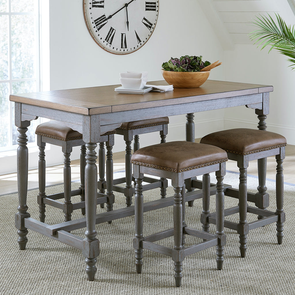 Midori 7-Piece Counter-Height Dinette by Progressive Furniture