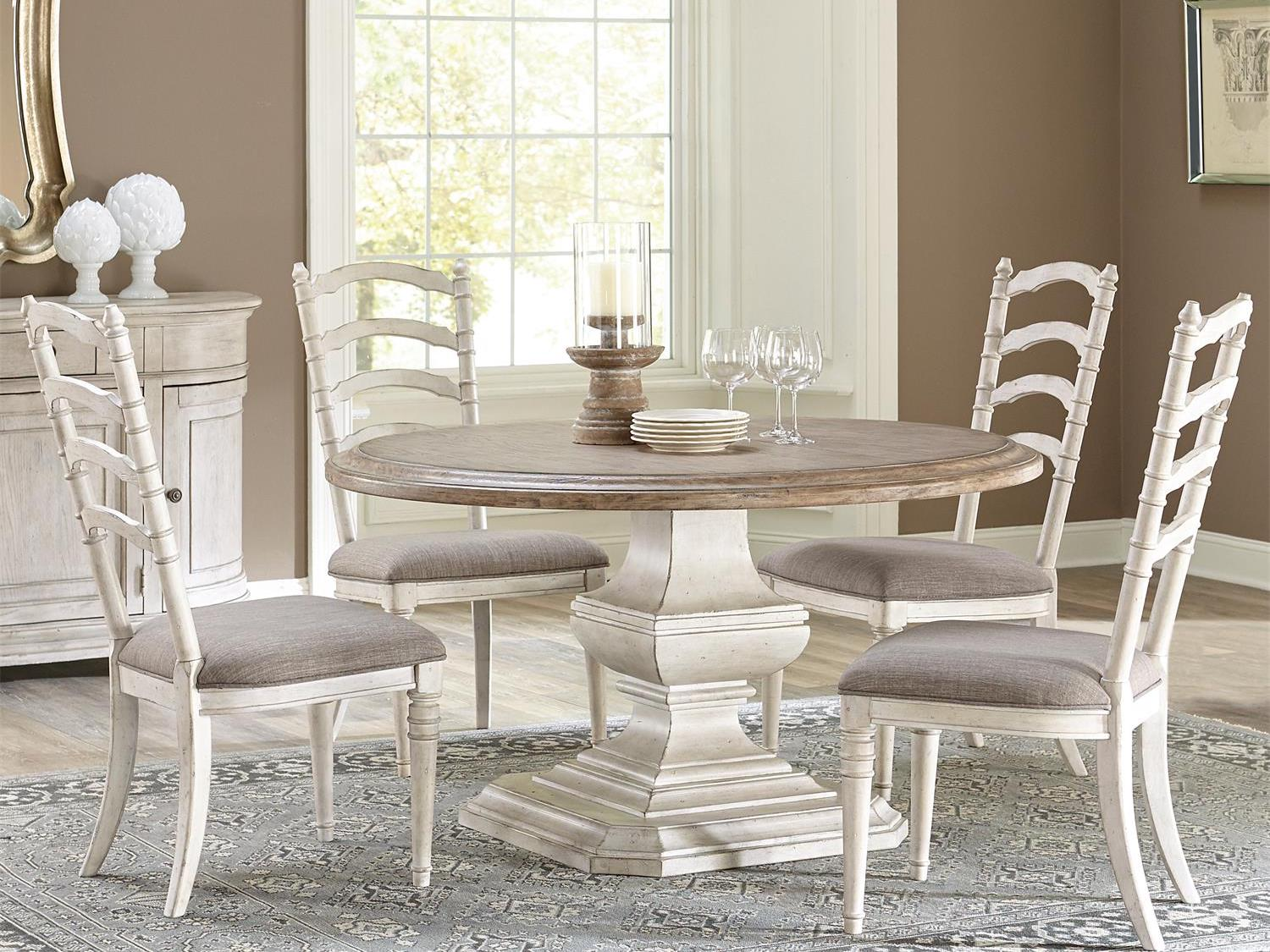 Elizabeth 5 Piece Round Dining Table And Chairs By Riverside Furniture Barrow Fine Furniture