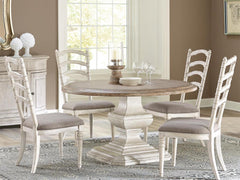 Boulder Dining Table, Bench, and Chairs by Riverside Furniture