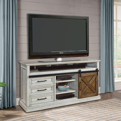 "Savannah 67"" TV Console with Sliding Door by Parker House"