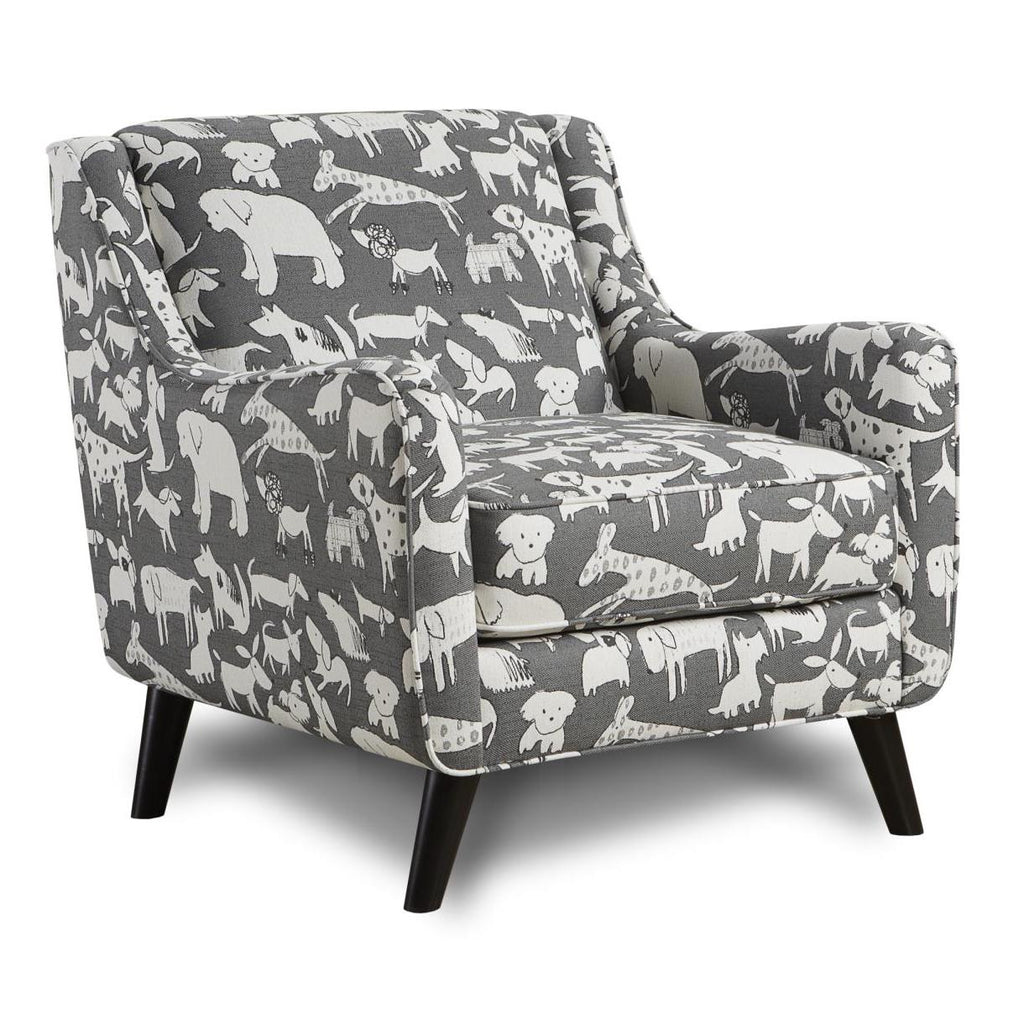 240 Doggie Graphite Chair by Fusion Furniture Inc