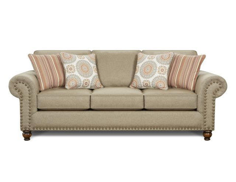 3110 Turino Sisal Sofa by Fusion Furniture Inc