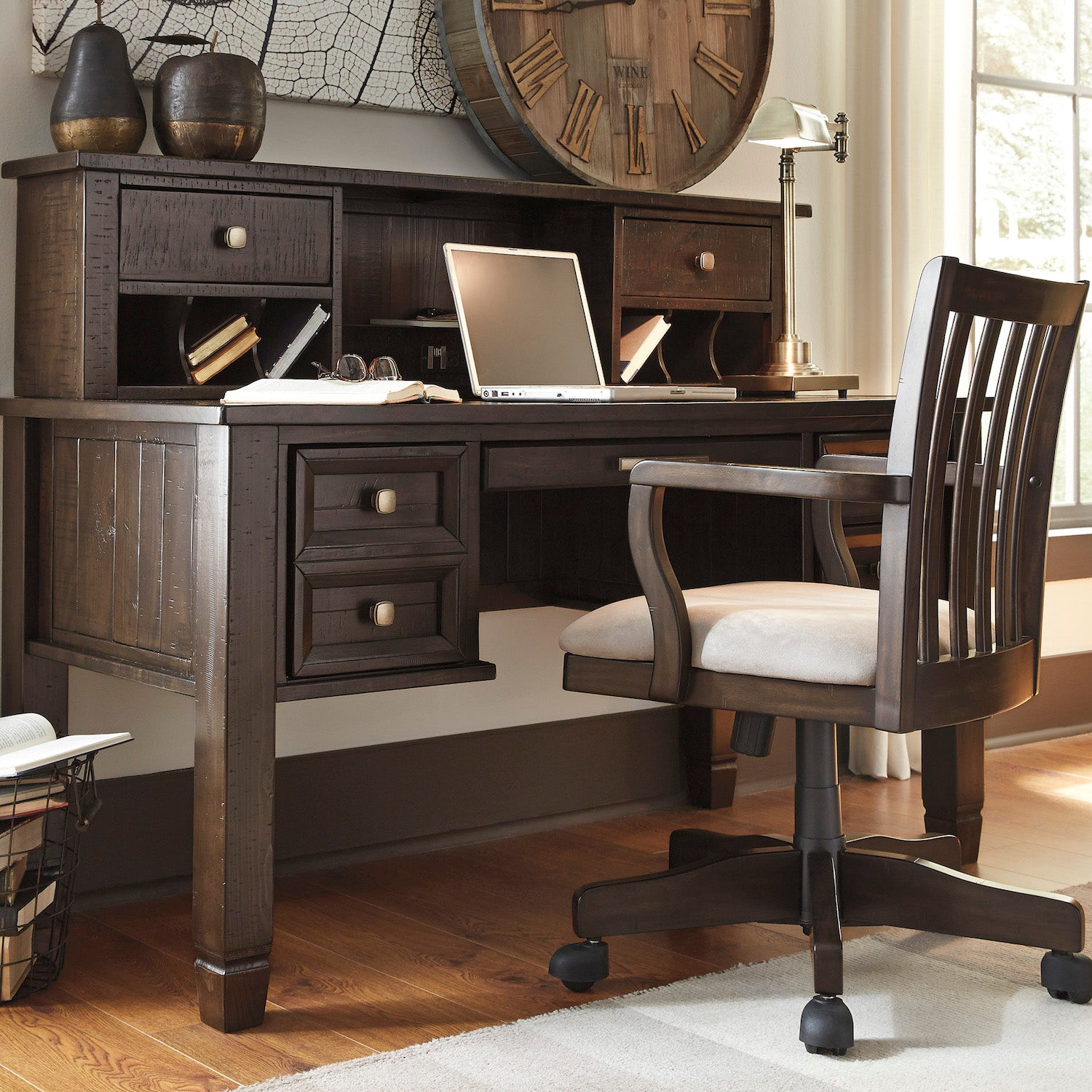 """American Signature Furniture Commercial Gagging: Townser 60"""" Desk By Signature Design By Ashley"""