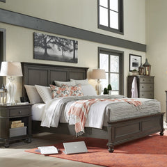 Oxford Peppercorn 3-Piece King Panel Bed by Aspenhome