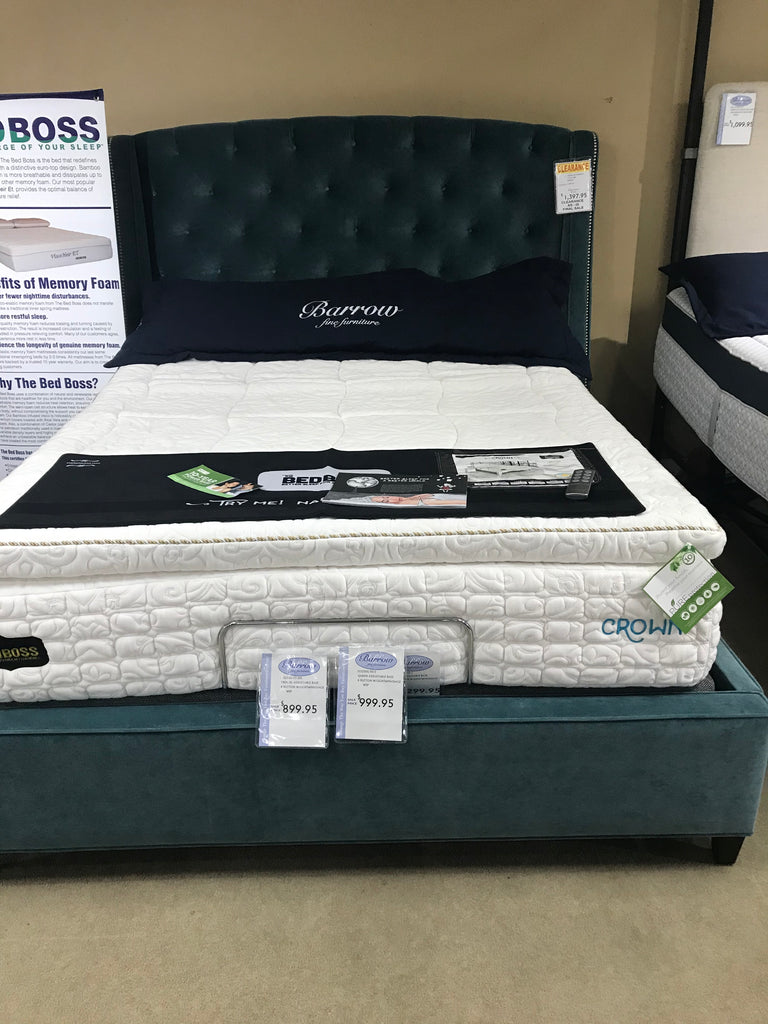 Rowe Fabric Queen Bed (Mattress not included)