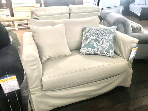 Fusion Slipcover Chair & 1/2