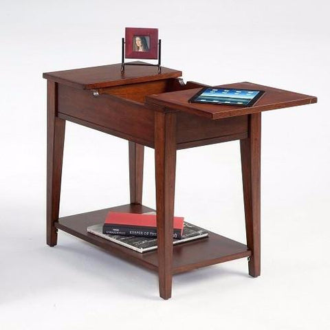 P300 Chairside Table with Flip Open Top by Progressive Furniture