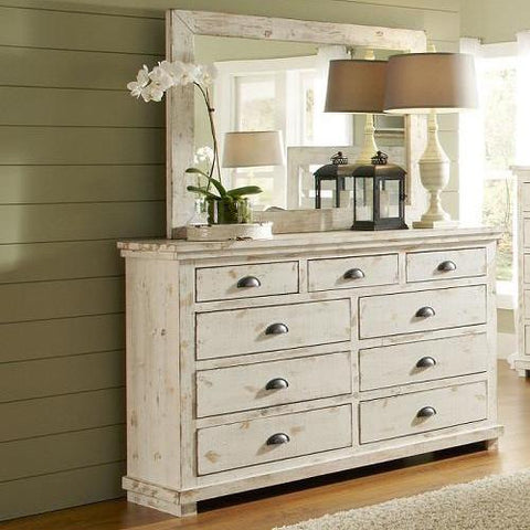 Exceptional Willow Drawer Dresser And Mirror By Progressive Furniture