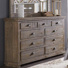 Willow Weathered Gray Dresser and Mirror by Progressive Furniture