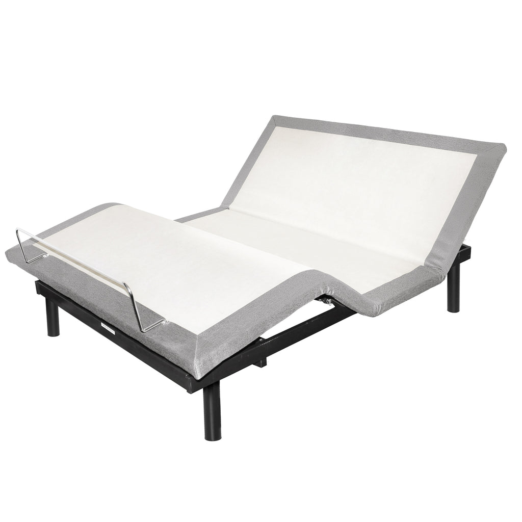Twin Extra-Long Adjustable Bed, with Light and Massage by W. Silver Products